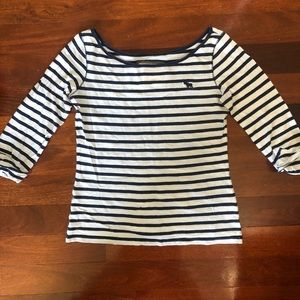 A&F Striped 3/4 Sleeve Shirt